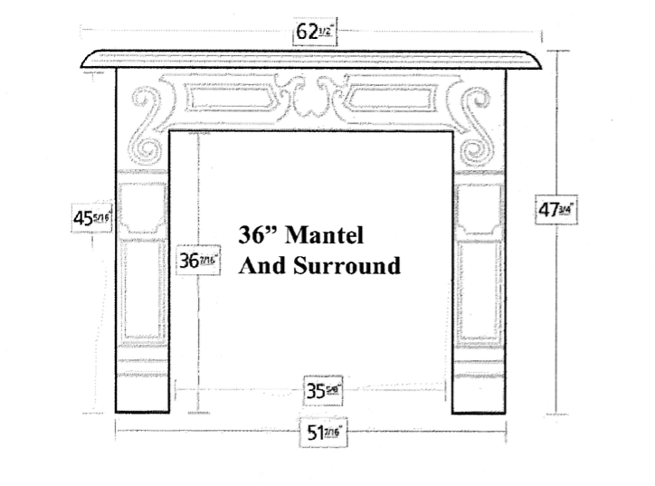 Fireplace Surround Dimensions to Pin on Pinterest