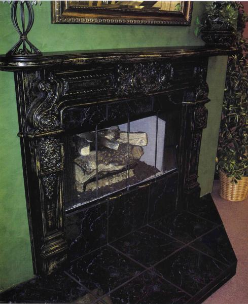Cast Metal Mantel