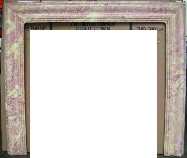 Pink Fireplace Surround