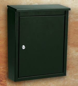 Architechtual Mailbox Wall Mount Soho in Black