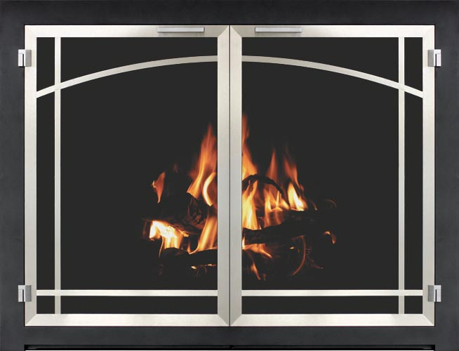 heat high brass love can with fireplace doors you new cover old painted black spray paint the