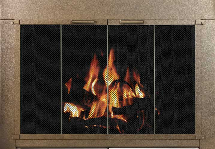 Stoll Fireplace Inc Glass And Mesh Doors And Hanging Mesh Paykel
