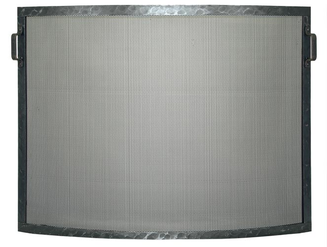 Stoll Fireplace Freestanding Screen Forged Convex in Clear Natural